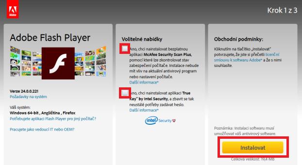 Adobe Flash Player pro Windows 10 1