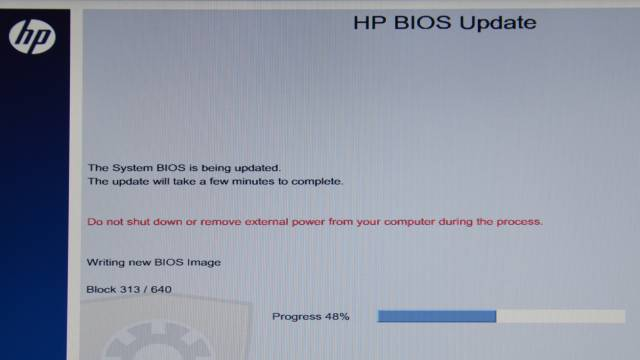 Bios HP aktualizace