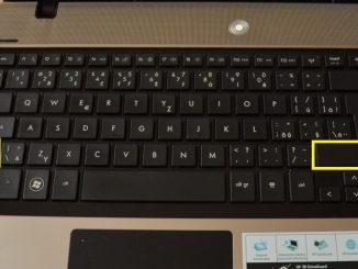 klávesnice hp notebook - klávesa shift