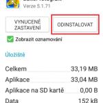 Jak odinstalovat aplikaci z mobilu Samsung