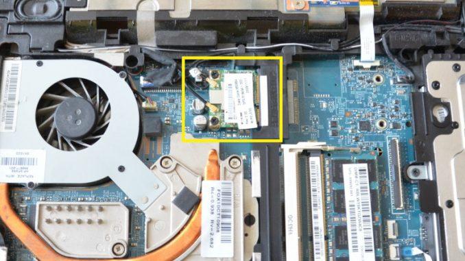Výměna wifi karty v notebooku HP