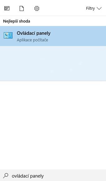 Ovládací panely Windows 10