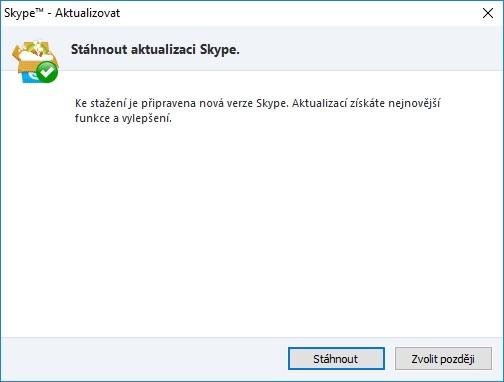 skype aktualizace 11