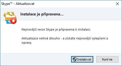 skype aktualizace 12