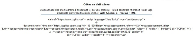 toplist.cz měření návštěvnosti 3