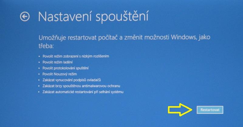 nouzový režim windows10 07