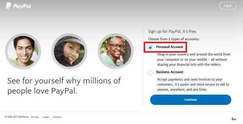 paypal registrace přihlášení 02