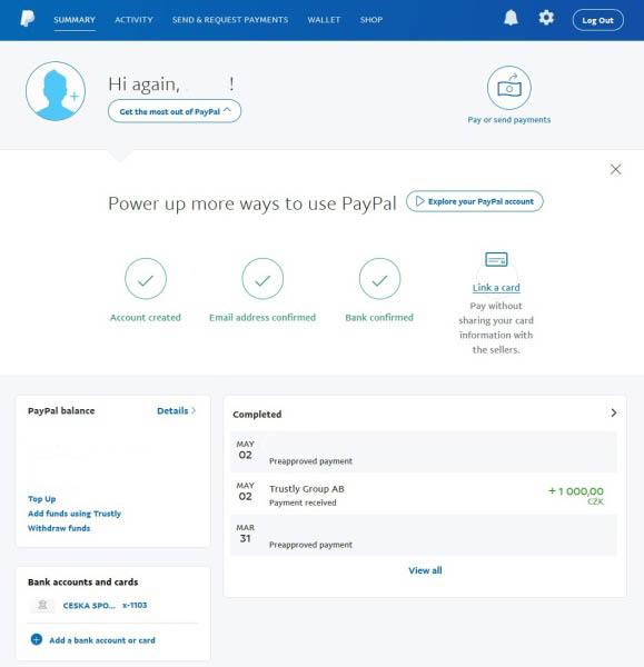 paypal registrace přihlášení 06