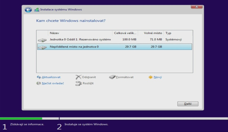 windows 10 čistá instalace usb ssd 07