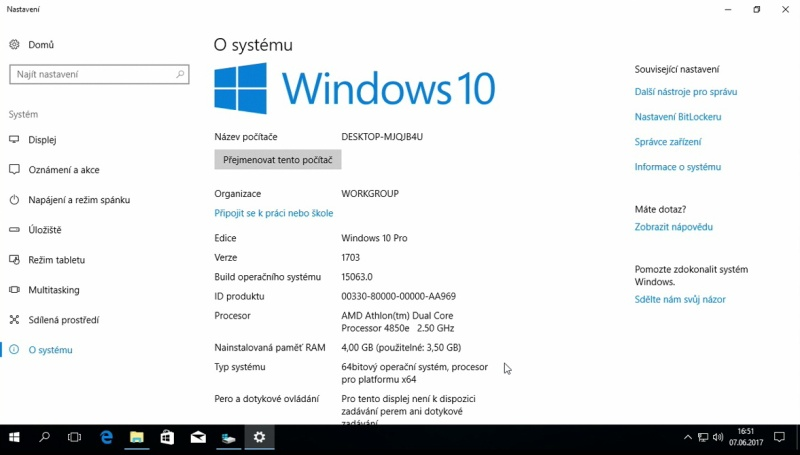 windows 10 čistá instalace usb ssd 21