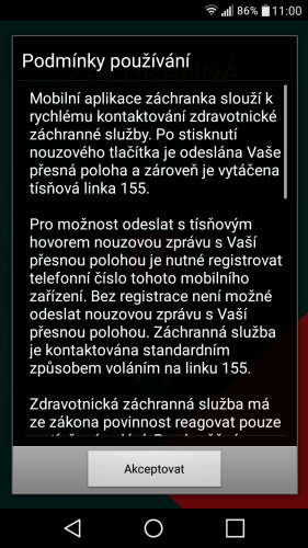 aplikace Záchranka do mobilu 01