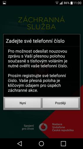 aplikace Záchranka do mobilu 02