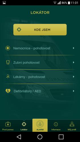 aplikace Záchranka do mobilu 11