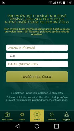 aplikace Záchranka do mobilu 13