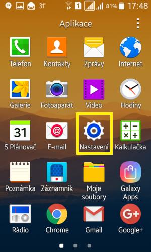 Sdílení internetu wifi Samsung 2