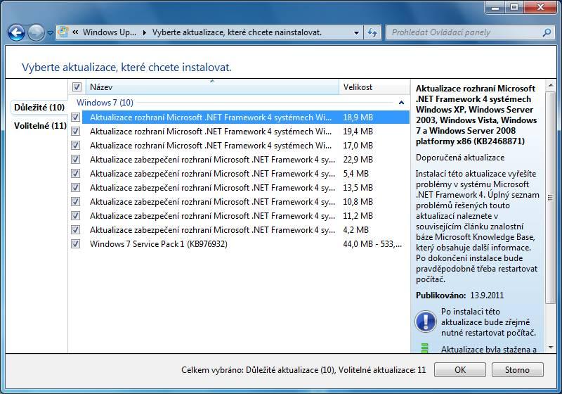 windows 7 update 11