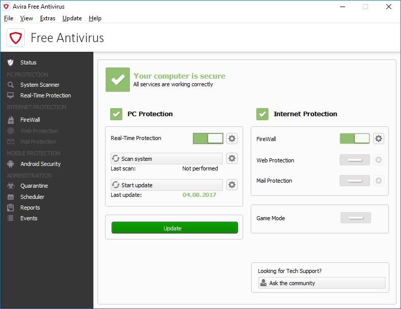 avira free antivirus 05