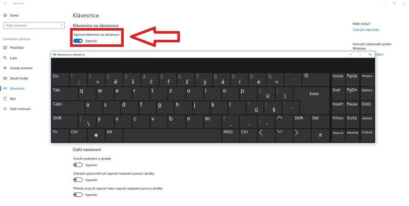 klávesnice na obrazovce 3