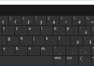 klávesnice na obrazovce pc win10