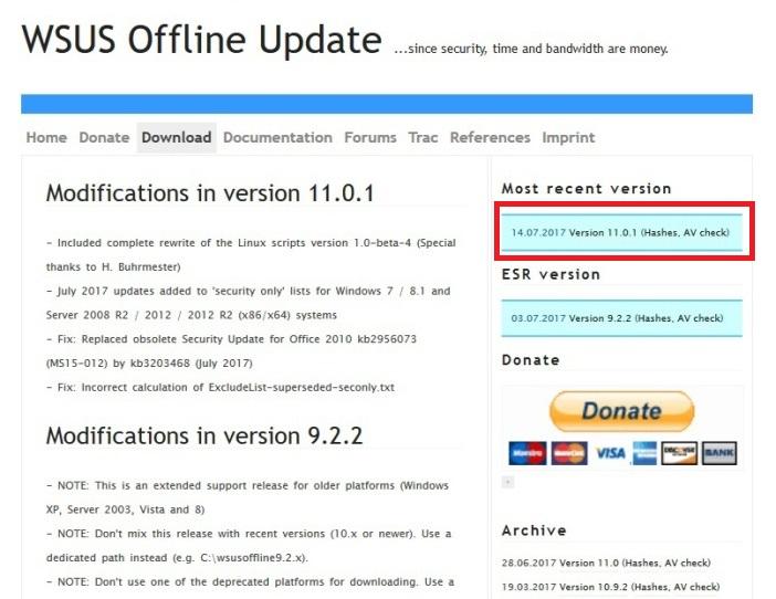 wsus offline installer 01