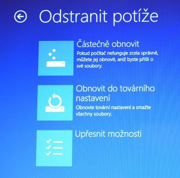 Částečné obnovení systému počítače s Windows 8 03