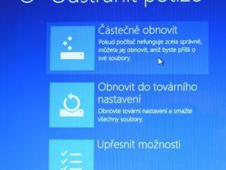Částečné obnovení systému počítače s Windows 8 07