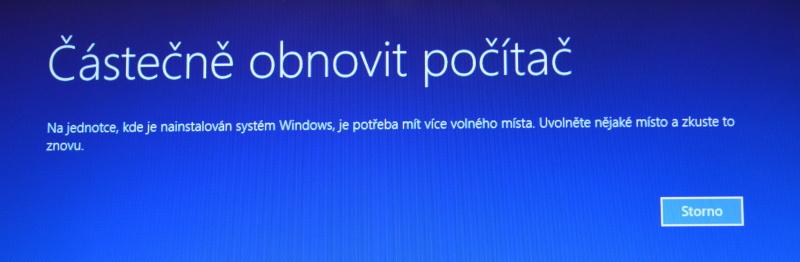 Částečné obnovení systému počítače s Windows 8 08
