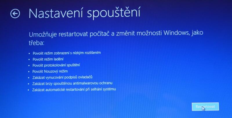 Částečné obnovení systému počítače s Windows 8 09