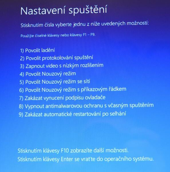 Částečné obnovení systému počítače s Windows 8 10