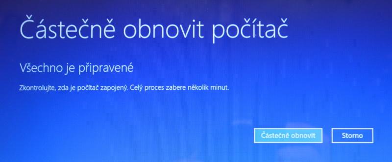 Částečné obnovení systému počítače s Windows 8 12