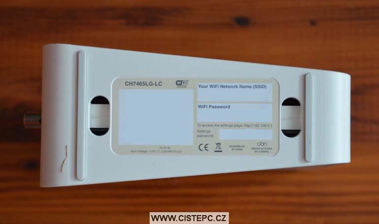 Compal ch7465lg wifi modem upc obsah balení 5