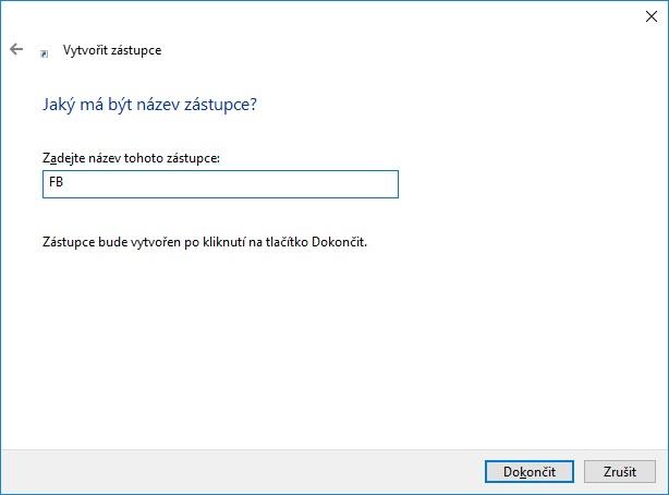 jak vytvořit zástupce fb na ploše ve windows 10 2