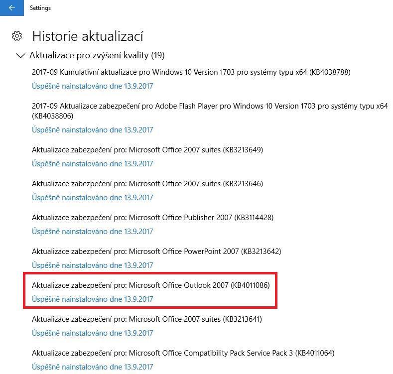 kb4011086 ms outlook 2007 aktualizace švédsky 2