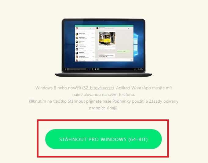 stáhnout whatsapp pro windows