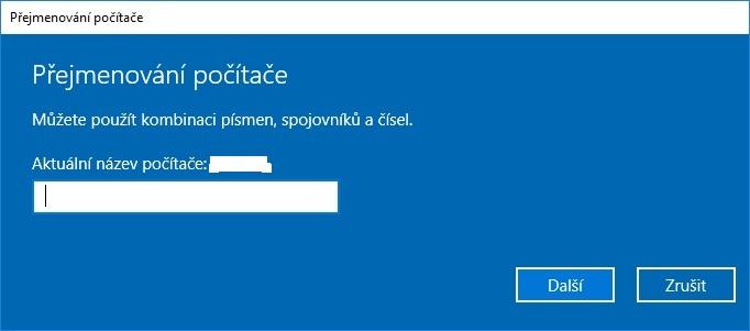 změna názvu počítače windows 10 2