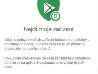 google najdi moje zařízení 01