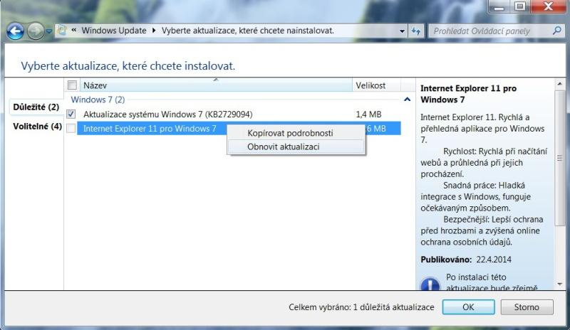Jak skrýt aktualizaci ve Windows 7 - 5