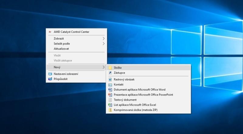 Jak vytvořit novou složku na ploše pc ve Windows 10