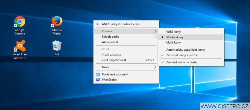 Jak zmenšit ikony na ploše ve Windows 10 – 2
