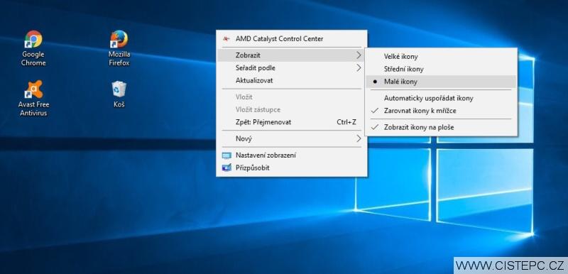 Jak zmenšit ikony na ploše ve Windows 10 - 3