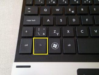 Klávesa fn na klávesnici notebooku hp
