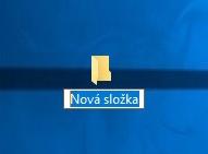 Nová složka na ploše pc ve windows 10