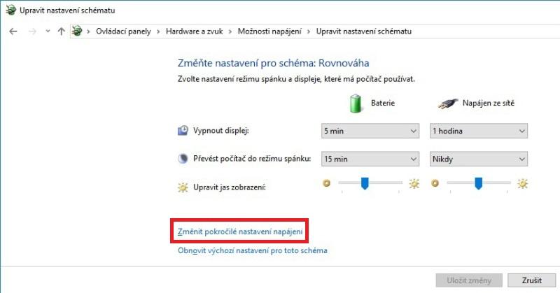 Zpomalení notebooku po zapojení napájení 05