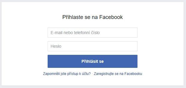 Facebook přihlášení na svůj profil