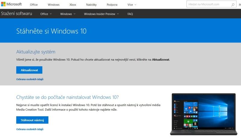 jak aktualizovat windows 10 1