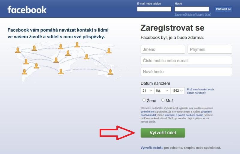 Jak založit Facebook profil 01