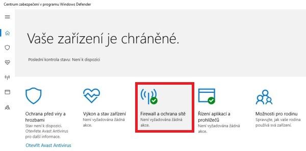 Jak zapnout firewall v Windows 10 02