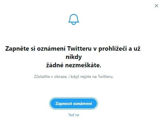 Twitter založení účtu 10
