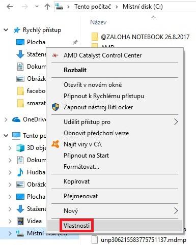 windows.old smazání vyčištění disku 1
