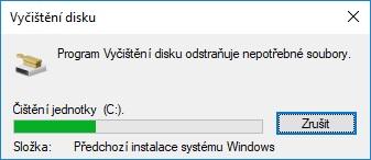 windows.old smazání vyčištění disku 6